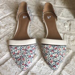 Nordstrom BP floral print d'Orsay pointy toe flat